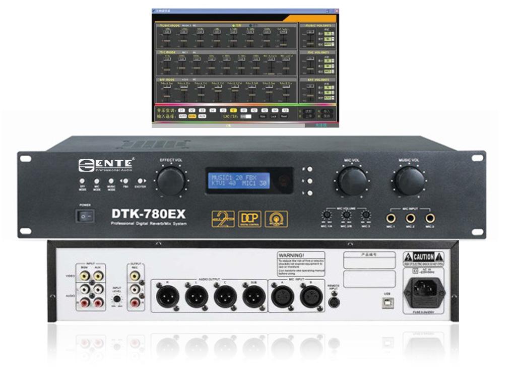数控模拟音频处理电路 ● 音乐,麦克风音调采用七段均衡器调节,低
